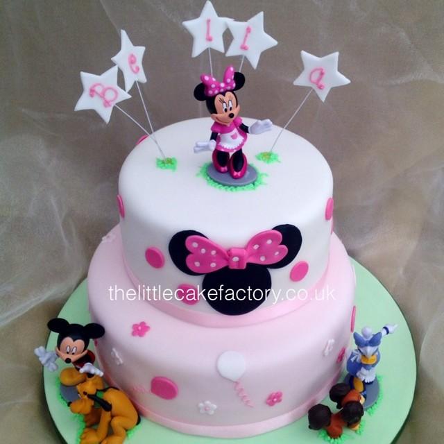 Amazing Minnie Friends Cake Minniemouse Tiered Birthday Cake Flickr Funny Birthday Cards Online Bapapcheapnameinfo
