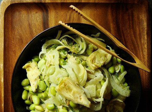 Fennel Artichoke Edamame Salad | by ComeUndone