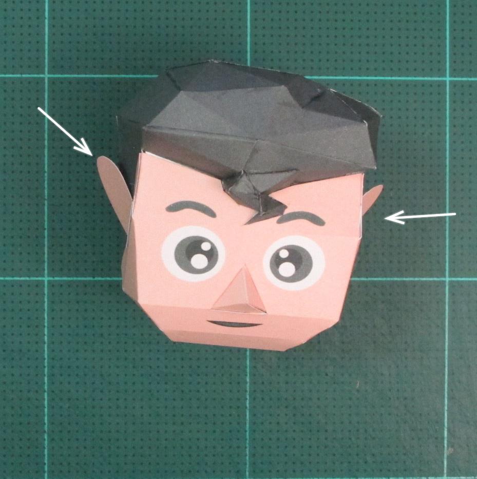 วิธีทำของเล่นโมเดลกระดาษซุปเปอร์แมน (Chibi Superman  Papercraft Model) 020