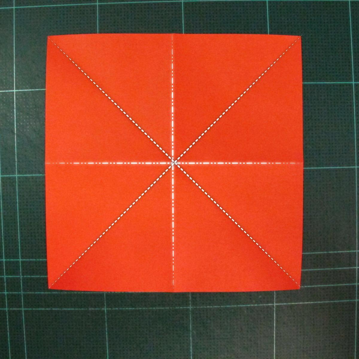 วิธีพับกระดาษเป็นช่อดอกไม้ติดอกเสื้อ (Origami Wedding Chest Flower) 001