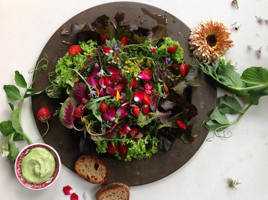 Eat Local: Add Gorgeous Edible Flowers to This Salad or Another