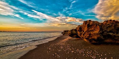 blowingrockspreserve hobesoundmartincounty miamifl sea seashore seascape beach beachscape exploration walking waterways walkingaround blue outdoors rock