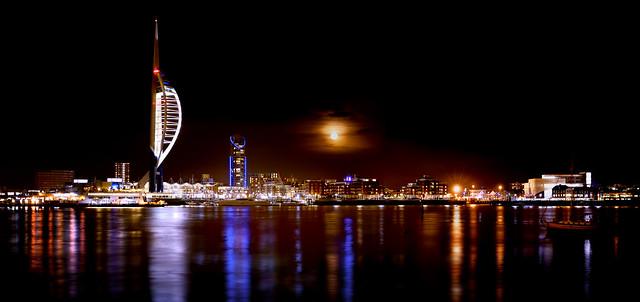 Waterfront Moonrise