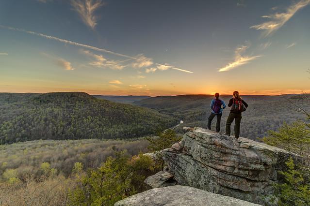 Sarah Cunningham, Megan Farris Choate, Welch Point, Bridgestone Firestone Centennial Wilderness WMA, White County, Tennessee 2