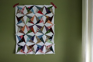 scrappy mini quilt top | by artsy-crafty babe