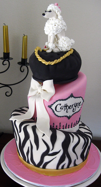 Enjoyable Poodle Birthday Cake Fun Topsy Turvy Poodle Pillow Bow Flickr Funny Birthday Cards Online Aeocydamsfinfo