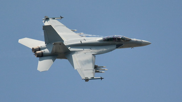 F18 Hornet With Missiles Loaded