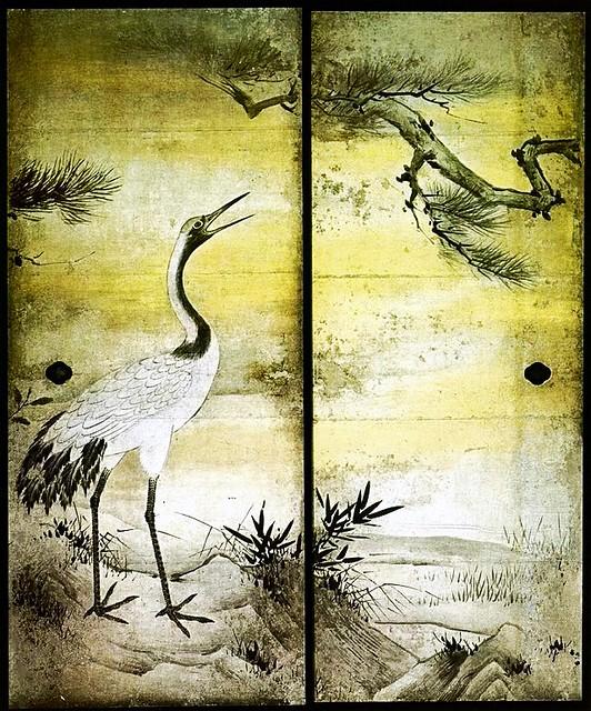 Kano Eitoku (1543-1590) - 1566c. Flowers and Birds of the Four Seasons, North Side (Juko-in, Daitoku-ji, Kyoto, Japan)