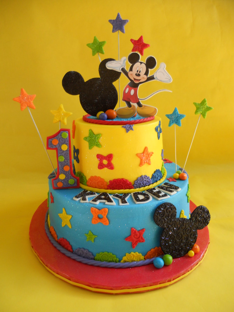 Peachy Mickey Mouse Clubhouse Birthday Cake Amy Stella Flickr Personalised Birthday Cards Veneteletsinfo