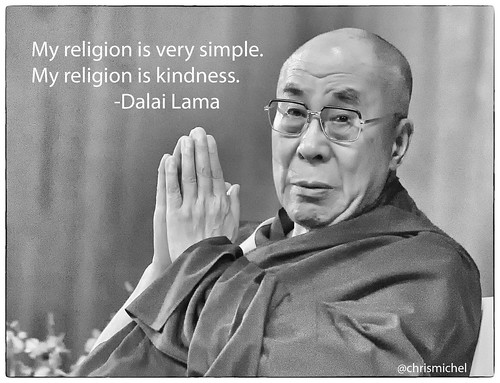 My religion is very simple. My religion is kindness.   by Christopher.Michel