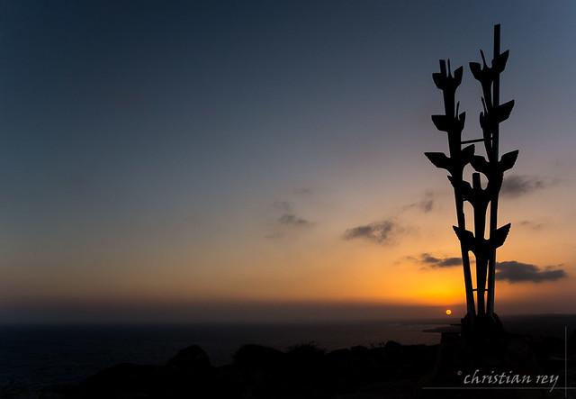 Sunset on Ayia Napa from Cape Gkreko (Cyprus)