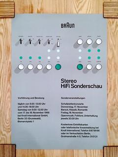 Braun Stereo HiFi Exhibition Poster - 1966