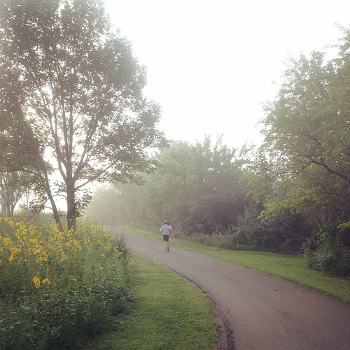 Misty Morning #Run #shirleyruns Crazy humidity this morning, but got over 17 miles done #chicagomarathon | by shirley319