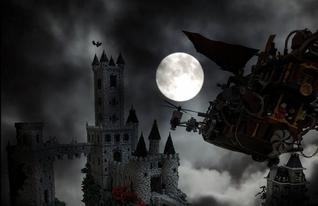 Vampire Castle | Diorama complet vue du Vaisseau | Castor