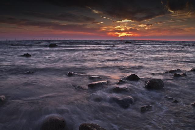 Walney Beach Sunset