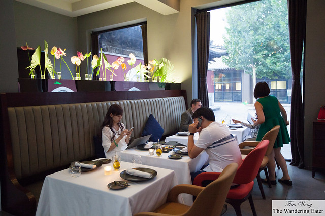 Diners at the front area of the main dining room