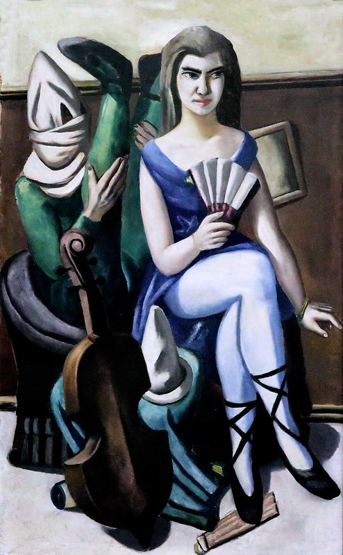 IMG_6500 Max Beckmann. 1884-1950. Pierrette and the Clown. 1925. Mannheim. Kunsthalle.