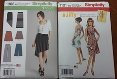 Simplicity 1068 and 1101