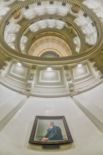 George W. Bush in the Texas State Capitol