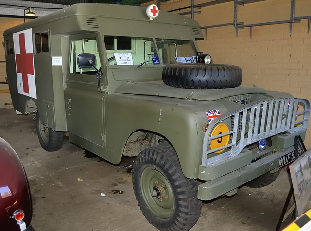 1967 Land Rover Series 2 military ambulance - National Code Centre, Bletchley Park, England.