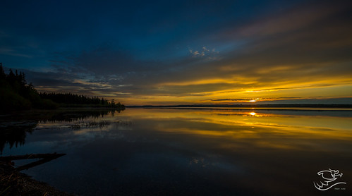 sunset sky canada water glass clouds skyscape landscape lakes alberta lakeisle drewmayphotography