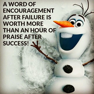 Wouldn't it be wonderful if we all had an Olaf to follow us around? #Frozen #Encouragement | by Stephen O