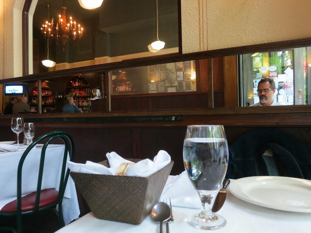 Self-Portrait in an Italian Restaurant, Belltown, Seattle