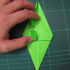 วิธีพับกระดาษเป็นรูปหอยทาก (origami Snail) 008