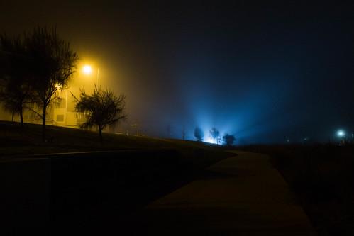 weather fog landscape lights nightscape australia victoria carolinesprings