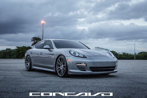 Porsche Panamera on CW-S5 Matte Grey Machined Face | by Concavo Wheels
