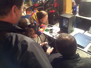 Vectrex 3d imager is immensely popular at cc2014 #chaosconstructions
