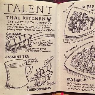 Sketchnotes Of Dinner At Talent Thai Kitchen Nyc 1 Of 2 Flickr