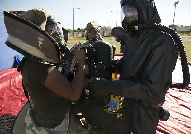 CBRN Marines put through paces during hazmat response training