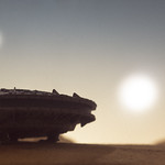 freighter under the twin suns