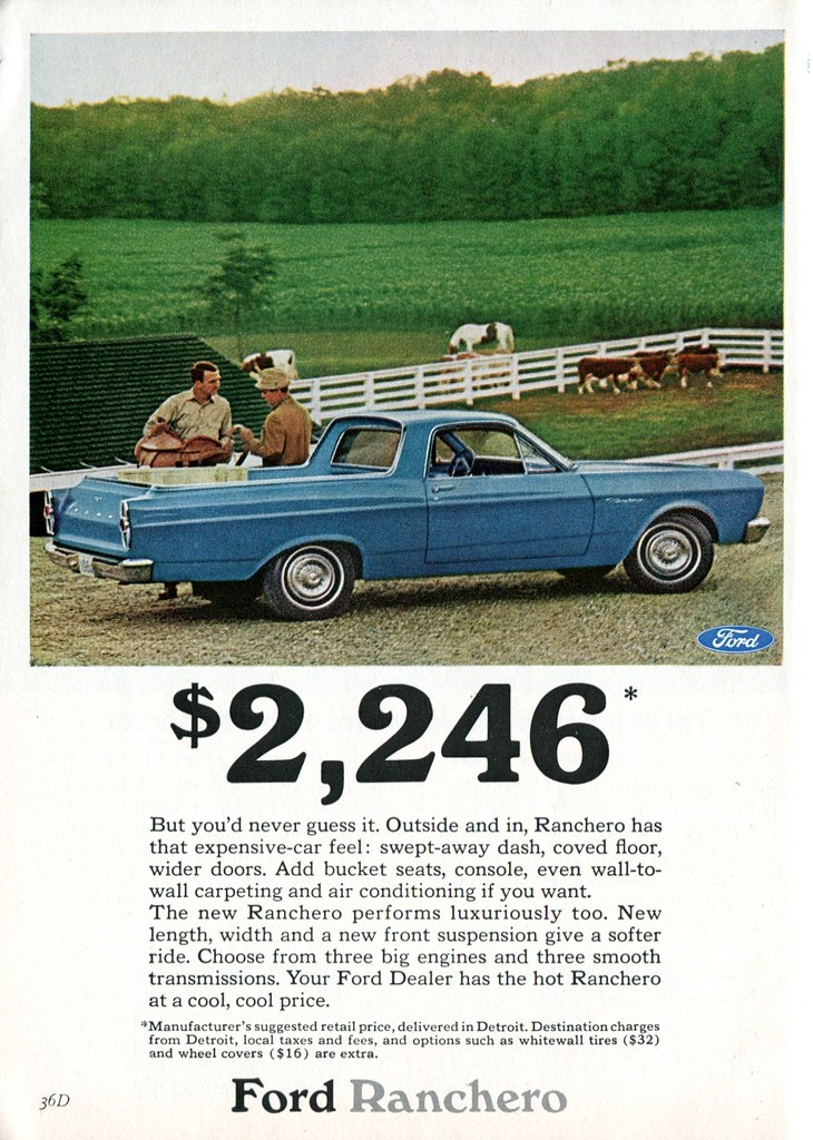 1966 Ford Ranchero Advertisement Readers Digest February 1966