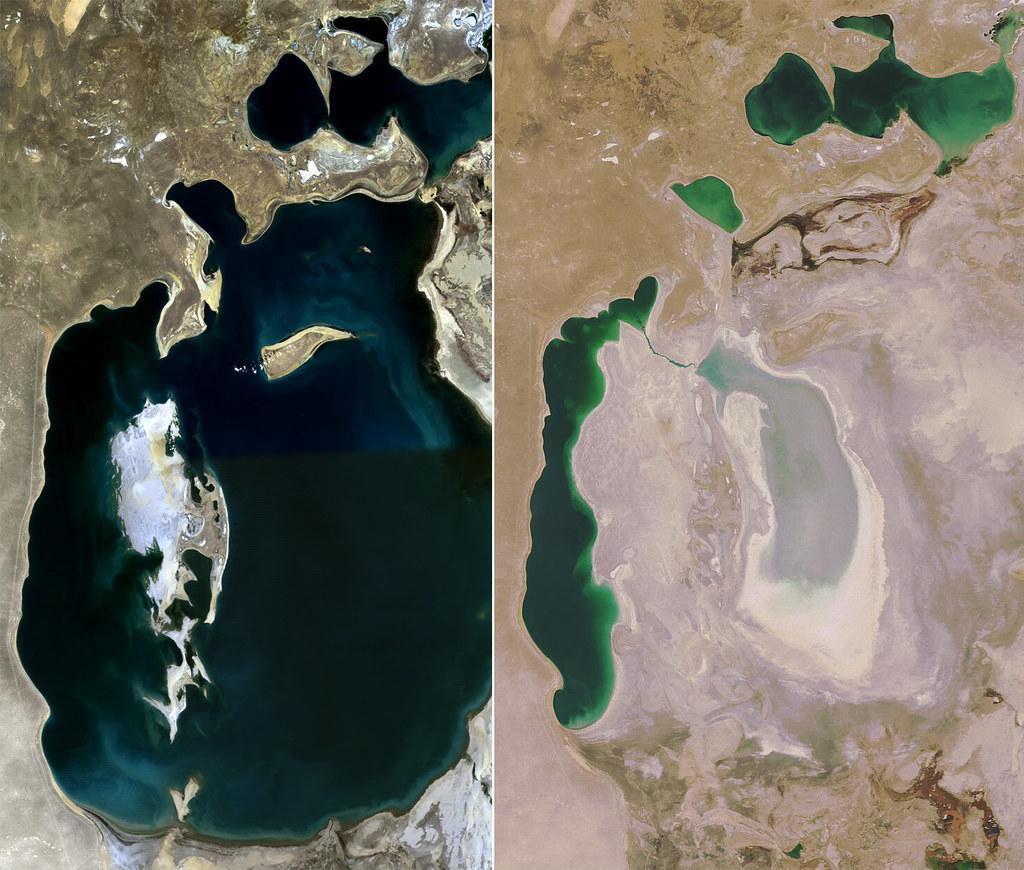 Aral Sea: 1989-2008