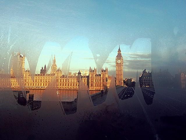 Rising sun in London