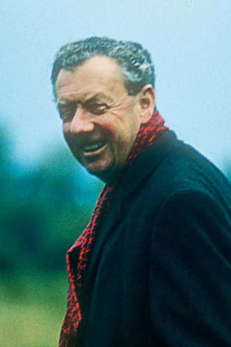 Benjamin Britten in action.