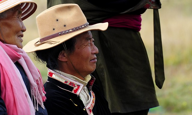 Tibetan enjoy the local opera, Tibet 2013
