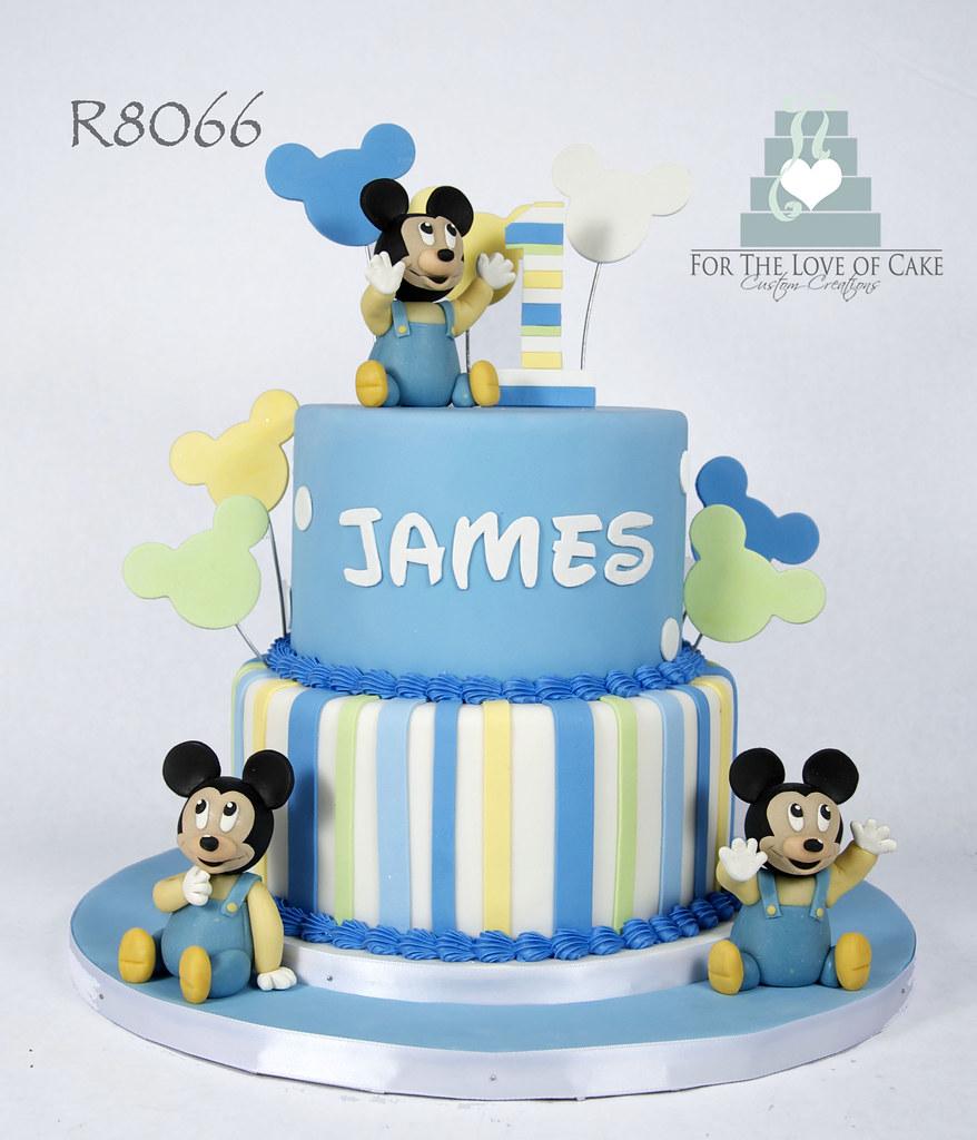Fabulous R8066 Blue Baby Mickey 1St Birthday Cake Toronto For The Love Of Funny Birthday Cards Online Necthendildamsfinfo