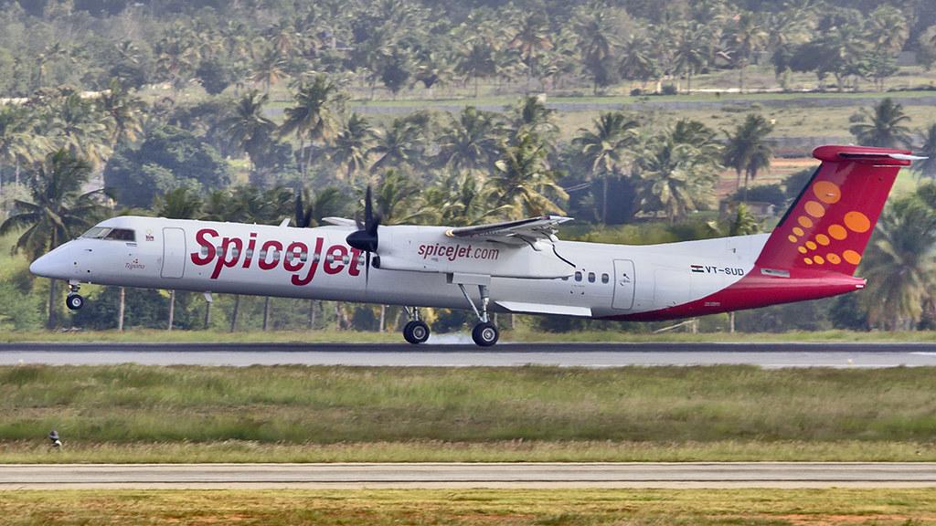 SpiceJet Bombardier Q400 VT-SUD Tejpatta   Aiel   Flickr