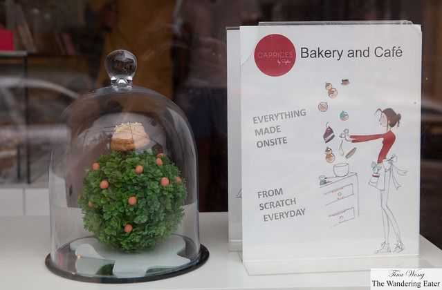 Display of Sophie's choux