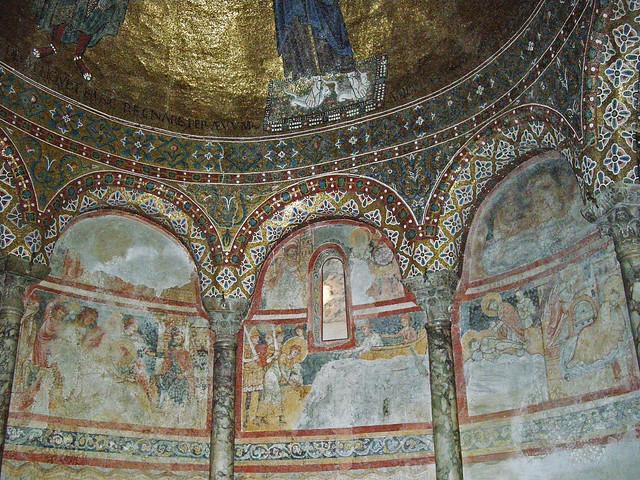 Trieste Cathedral - Apse fresco (13th century) of San Giusto