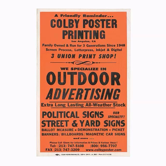 Colby Posters — starting with    | 225 Colby Posters — start