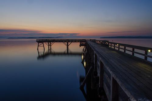 canada water sunrise reflections dawn pier dock bc britishcolumbia vancouverisland sidney daybreak