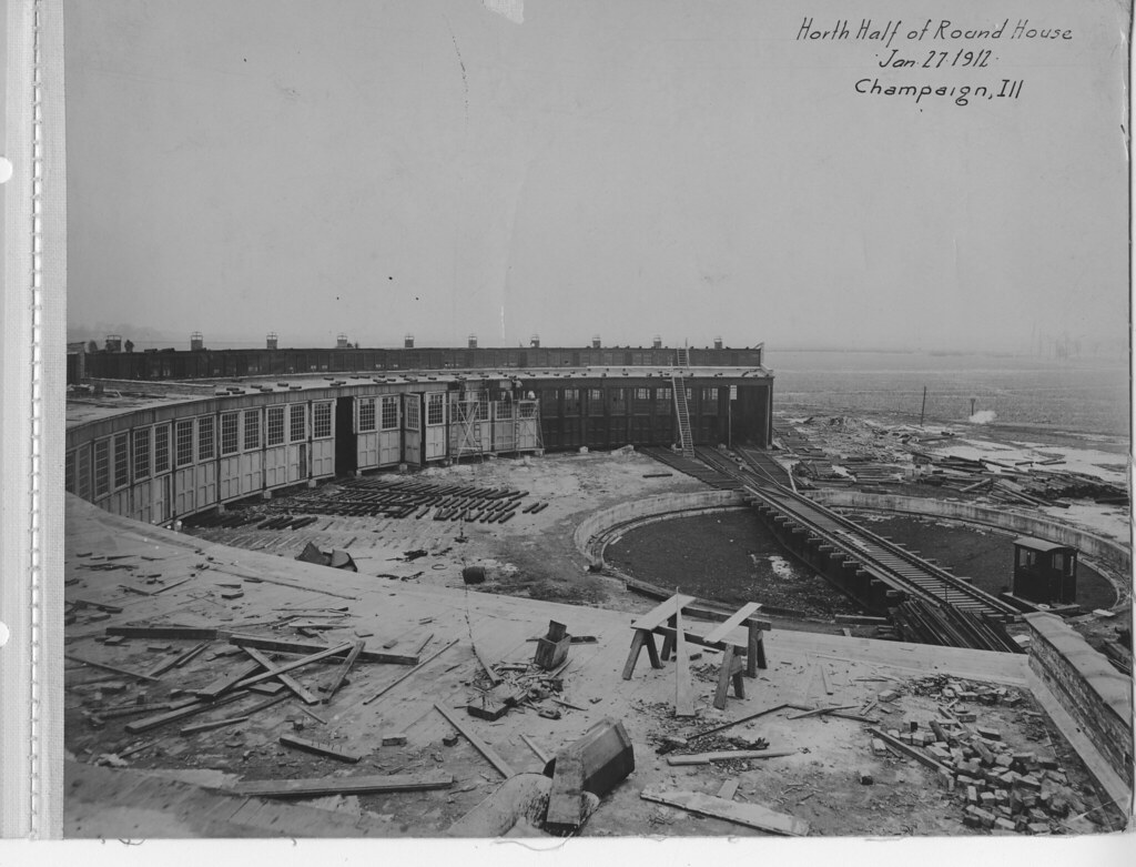 North Half of Roundhouse January 27, 1912
