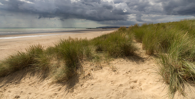 Approaching rain at Camber Sands