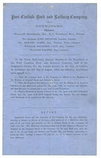 Port Carlisle Dock and Railway Directors Report 1867   by ian.dinmore