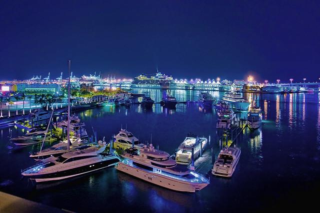 PortMiami, Dodge Island, downtown Miami, Florida, USA