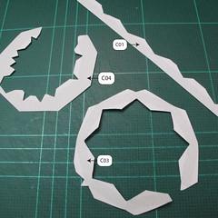 วิธีทำโมเดลกระดาษของเล่นคุกกี้รัน คุกกี้รสพ่อมด (Cookie Run Wizard Cookie Papercraft Model) 011